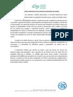 Agenda Propositiva Do Conselho Nacional de Saúde