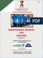 Maintenance Manual for Wagons