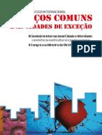 Anais - Espaços Comuns e Cidades de Exceção