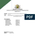 Communication Strategy on Forest Degradation in Kenya