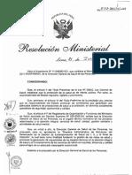 RM572-2011-MINSA Monitoreo Del Desempeño de La Gestión