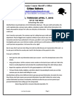 Crime Solvers Report 4-1 / 4-7-2015