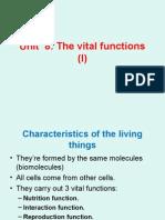 Unit 8 the Vital Functions (I)