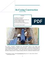 Conduit in Casing Construction