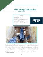 Conduit in Casing Construction