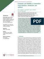 Constraints and flexibility in mammalian social behaviour