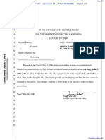 """The Apple iPod iTunes Anti-Trust Litigation"" - Document No. 70"