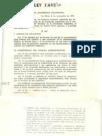 1970 Decreto Ley 7647 Procedimiento Administrativo GENERAL