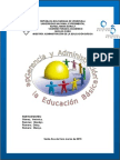 Gerencia y Administracíon de La Educación Básica