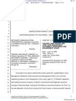 Netscape Communications Corporation et al v. Federal Insurance Company et al - Document No. 37
