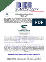 DEC IMPIANTI - CENTROPLAST EUROPE solvent recovery