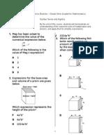 EQAO Practice Booklet Academic