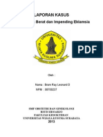 PEB + Impending eklamsi (obgyn)