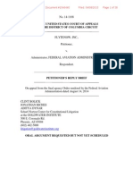 Flytenow v. FAA Petitioners Reply Brief