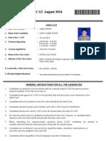 Admit Card 140516459