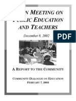 Town Meeting on Public Education and Teachers 12-14-2002