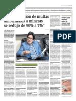09-04-15- Correo - Entrevista_Judicialización de Multas Ambientales a Mineras de Redujo de 90% a 7%