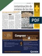 08-04-2015- Publimetro - 80% de La Contaminacion de Las Playas Provienen de Los Ríos