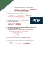 key unit 5 stoichiometry test reveiw