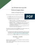 Syll Sample MTech(CS) PCB 2014