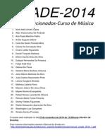 ENADE - Selecionados Musica 2014