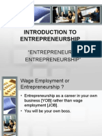 Chapter 1 - Introduction to Entrepreneurship