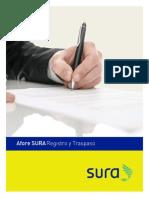 FolletoCartaSURA Registro y Traspaso