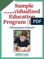IEP Example Elementary