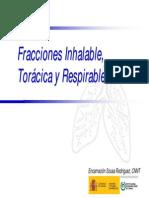 Fracciones Inhalable, Torácica y Respirable. Encarnación Sousa