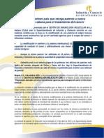 Comunicado de Prensa Definitivo Patente Tecnologia Cubana Tratamiento Del Cancer
