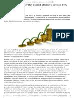 Maroc _ La Dette de l'Etat Devrait Atteindre Environ 64% Du PIB en 2014
