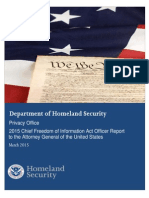 U.S. Department of Homeland Security Chief FOIA Officer Report