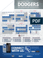 2015 Oklahoma City Dodgers schedule