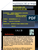 BIOQUIMICA (Fosforo y Calcio)
