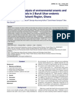 Comparative analysis of environmental arsenic and other heavy metals in 2 Buruli Ulcer endemic districts in the Ashanti Region, Ghana