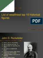 List of Wealthiest Top 10 Historical Figures