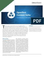 Open Text Content Suite Executive Brief