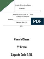 Plan Anual Del 5to Grado 2015