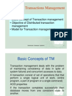 Distributed Transactions Management