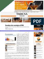 9-04-2015 Sondeo da ventaja al PRI