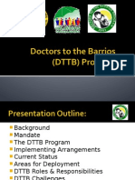 The DTTB Program Presentation 12102013