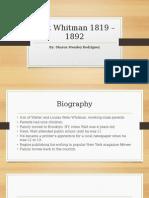 Walt Whitman's Poetry