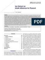 Effect of Extraction Solvent on Tannin-Formaldehyde Adhesives for Plywood Production