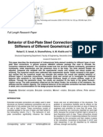 Behavior of End-Plate Steel Connections Stiffened with Stiffeners of Different Geometrical Dimensions