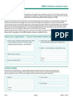 HMRC Gift Aid Change Form