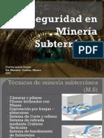 Curso Seguridad Mineria Subterranea