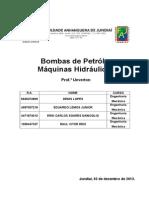 Bombas de Petróleo - Máquinas Hidráulicas