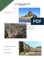 Fiche de l'Eleve Cartes Postales de Normandie