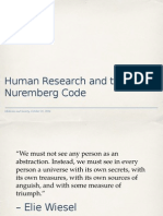 Henrietta Lacks, Human Research, and the Nuremberg Code
