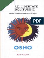 Osho - Iubire, libertate si solitudine